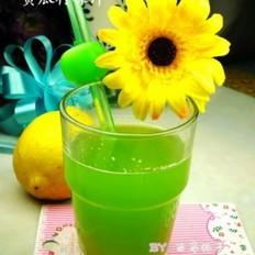 柠檬蜂蜜黄瓜汁