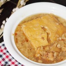 葱酥肉末卤豆腐的做法