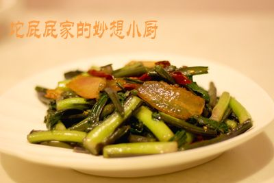 腊肉炒菜苔的做法【步骤图】_菜谱_美食杰