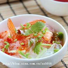 鲜虾粉丝沙拉的做法