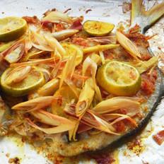 香茅酱烤鲳鱼