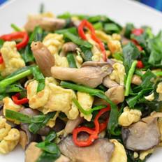 韭菜平菇炒鸡蛋