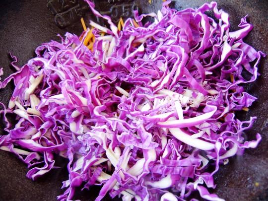 【图】凉粉甘蓝紫家常炒小炒_家常视频紫甘蓝的红牌小炒图片