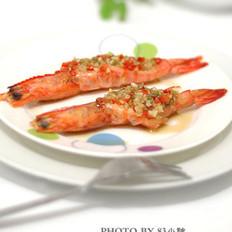 蒜蓉開背蝦的做法