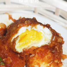 茄汁脆皮鸡蛋的做法