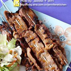 沙嗲牛肉串的做法