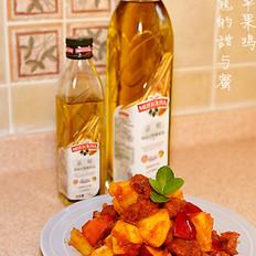 菠蘿蘋果雞的做法