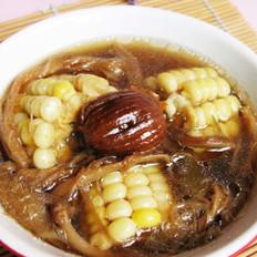 霸王花煲玉米大骨汤的做法