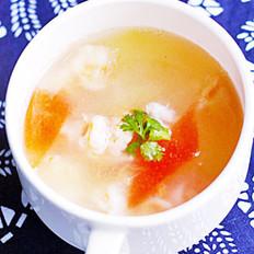 虾球西瓜汤的做法