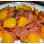 火腿炒柿子椒