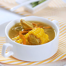 虫草花玉米排骨汤