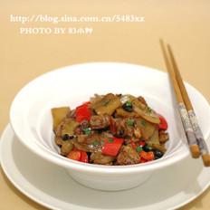 豆豉榨菜炒肉片