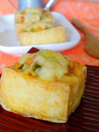 奶酪虾烤豆腐的做法