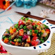 肉末豇豆的做法