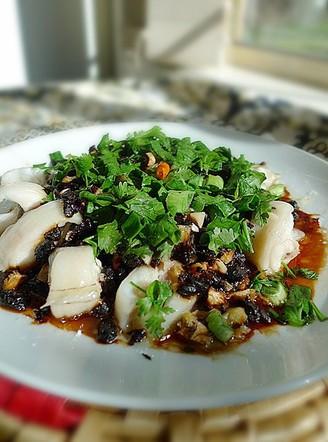 蒜头豆豉蒸海鳝的做法