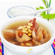 莲藕黄豆肉骨汤的做法