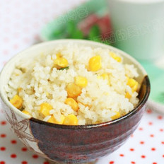 玉米粒炒饭的做法