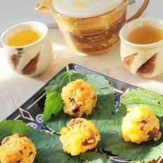 黑椒土豆南瓜腊肠饭团