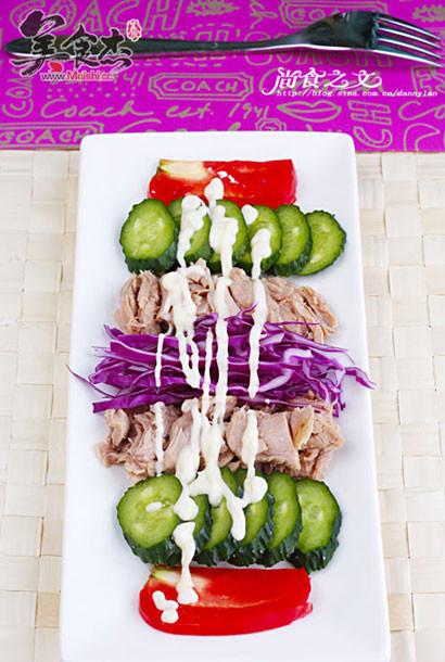金枪鱼蔬菜沙拉的做法【步骤图】_菜谱_美食杰
