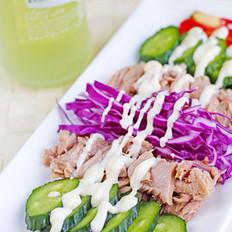 金槍魚蔬菜沙拉的做法