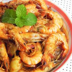 泰式红咖喱香茅虾的做法