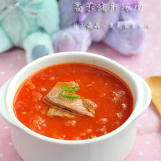 番茄猪肝浓汤的做法