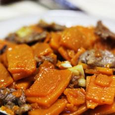 肉片炒南瓜 的做法