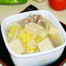 酸菜排骨冻豆腐汤的做法