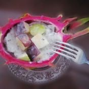 火龙果酸奶沙拉的做法