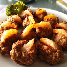 金猪鲜虾球的做法