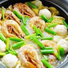 虾干白菜粉丝煲