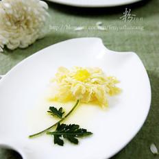 橙汁菊花玉子豆腐的做法
