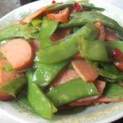 火腿炒荷兰豆