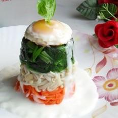 奶汁鸡蛋菠菜