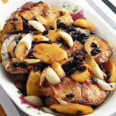 豆豉煎焖马鲛鱼的做法