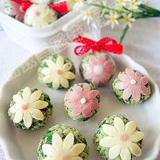 花瓣菜团的做法