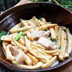 家乡豆腐泡炖肉的做法