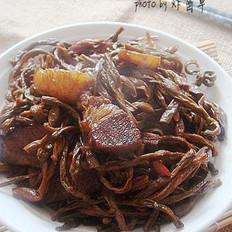 豇豆干紅燒肉的做法