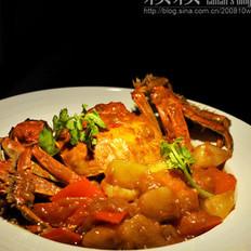 金黄咖喱蟹的做法
