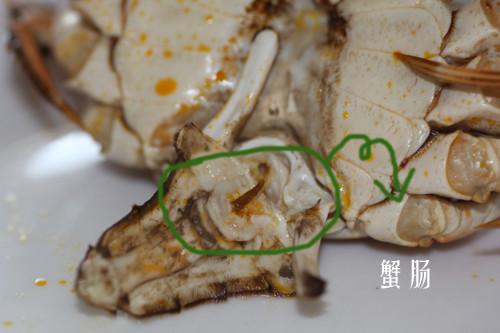 4,蟹心:位于头胸部的中央,是一个六角形包囊,十分寒凉.
