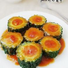 茄汁苦瓜酿的做法