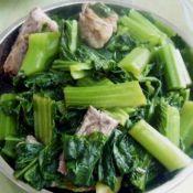 青菜烧排骨