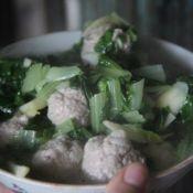 香菇肉圆子汤