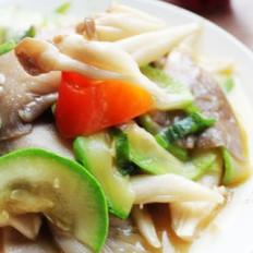 平菇炒鲜蔬