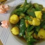 灯笼椒炒日本豆腐