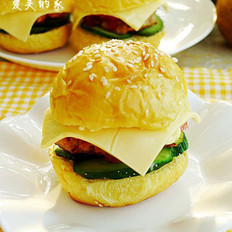 芝士猪排小汉堡