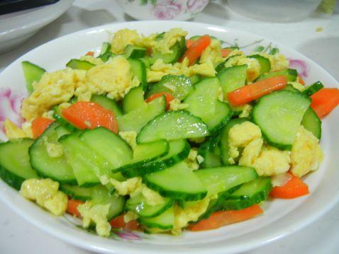 【图】胡萝卜黄瓜炒鸡蛋_胡萝卜做法炒鸡蛋的v黄瓜鹅肉的黄瓜图片