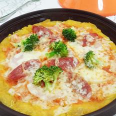 红薯腊肠西兰花比萨