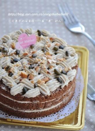 可可栗子蛋糕的做法