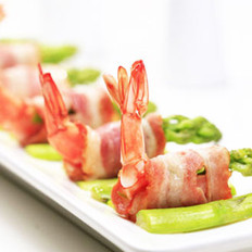 蘆筍鮮蝦培根卷的做法